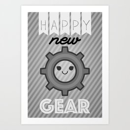 Happy new Gear Art Print