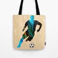 soccer Tote Bags featuring Soccer by marvinblaine