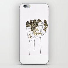 Golden hand iPhone & iPod Skin