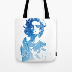 Snow: Natalia Vodianova Tote Bag