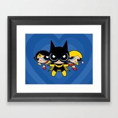 Supertough Girls Framed Art Print