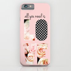 Love in Blush Slim Case iPhone 6s