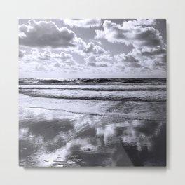 sylt mono - clouds Metal Print