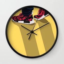 nice kicks x nmd illustration Wall Clock