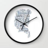 elsa Wall Clocks featuring Elsa  by MollyW