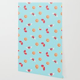 Sailor Moon Pattern (Blue) Wallpaper