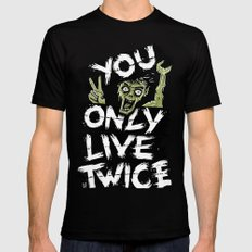 You Only Live Twice Black MEDIUM Mens Fitted Tee