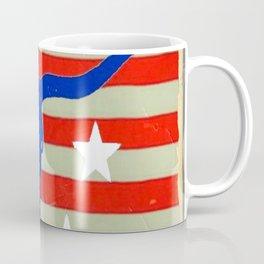 Western Patriotic Texas Longhorn Logo Pattern Art Coffee Mug