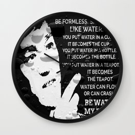 Words Of Wisdom Black Water Wall Clock
