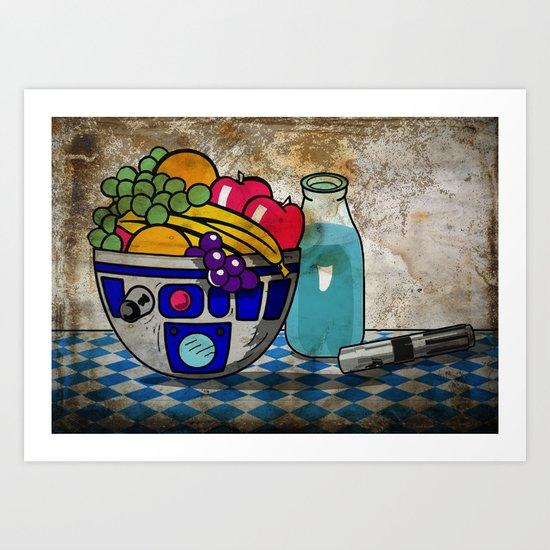 Still Life...with Blue Milk  Art Print
