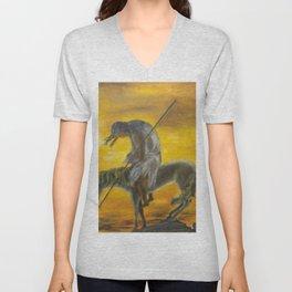 Indian on a horse Unisex V-Neck