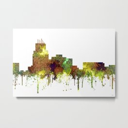 Durham, NC Skyline SG - Safari Buff Metal Print