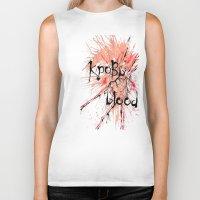 blood Biker Tanks featuring Blood by OnaElena