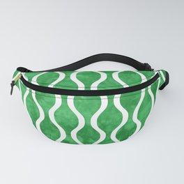 Retro Tie Dye Ogee Pattern 315 Green Fanny Pack