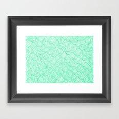 waves / green Framed Art Print