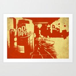 Pop Dr. Pepper Art Print