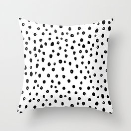 Dotty Girl Throw Pillow