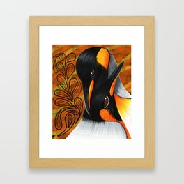 Penguins at Tierra del Fuego Framed Art Print