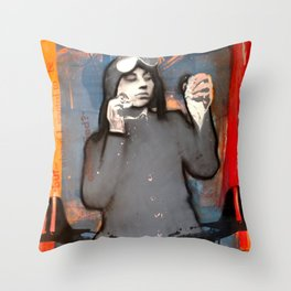 The Aviatrix Throw Pillow