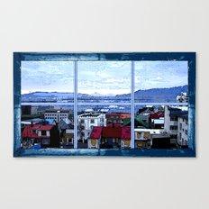 Reykjavik skyline view Canvas Print