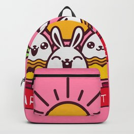 Happy Easter Happy Bunnies Backpack