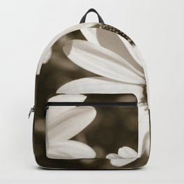 Monochrome Daisy - Botanical Photography Backpack