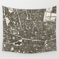 london map Wall Tapestries featuring London Map by Zeke Tucker