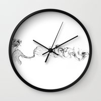 smoke Wall Clocks featuring smoke by Andreas Derebucha