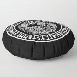 Viking Fenrir Emblem - Wolf Norse Mythology Floor Pillow