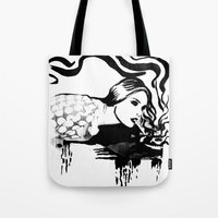 cigarette Tote Bags featuring Cigarette by alexflasher