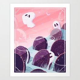 Oreo Ghost Art Print