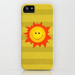 Smiling Happy Sun iPhone Case