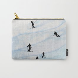 Skiing Hills Carry-All Pouch