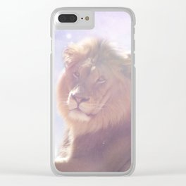Galactic Lion Clear iPhone Case