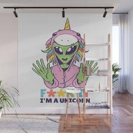Alien unicorn Wall Mural