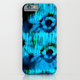 Blue and Green Tie Dye iPhone Case