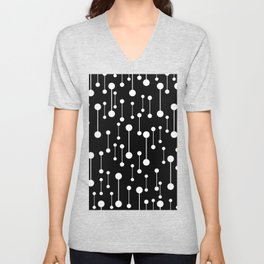Perfectly Balanced In Black And White Unisex V-Neck