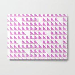 Pinky Winky Triangles Metal Print