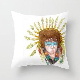 Spirit warrior Throw Pillow
