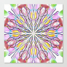Stain Glass Kaleidoscope Canvas Print