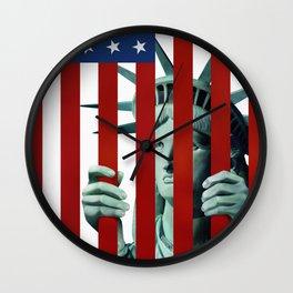 America's self-imprisonment Wall Clock