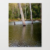 rowing Canvas Prints featuring Rowing by Emily Jane.