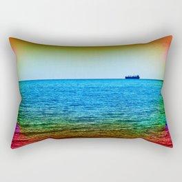Cargo Ship on the Horizon Rectangular Pillow