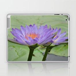 Blue Water Lilies in Hangzhou Laptop & iPad Skin