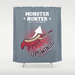 Monster Hunter All Stars - The Kotoko Upswings  Shower Curtain