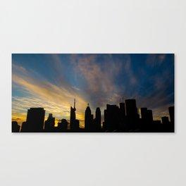 Skyline Silhouette Moody Wispy Clouds Canvas Print