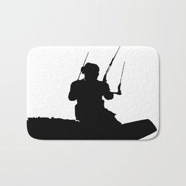 Wakeboarder Kitesurfing Silhouette Bath Mat
