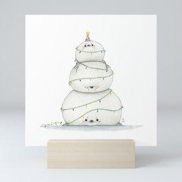 A very sealy Christmas tree Mini Art Print