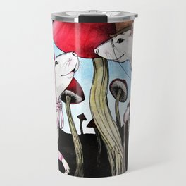 Meeting by the Mushrooms Travel Mug