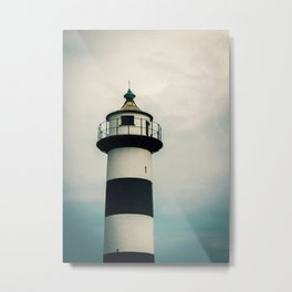 Lighthouse in the Storm Clouds #2 Metal Print